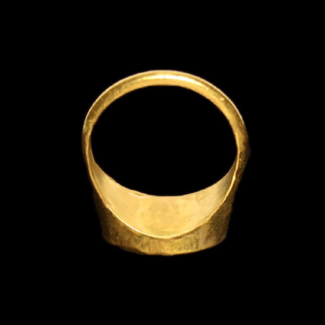 Roman Gold Ring with Dionysus Cornelian Intaglio, c. - 6