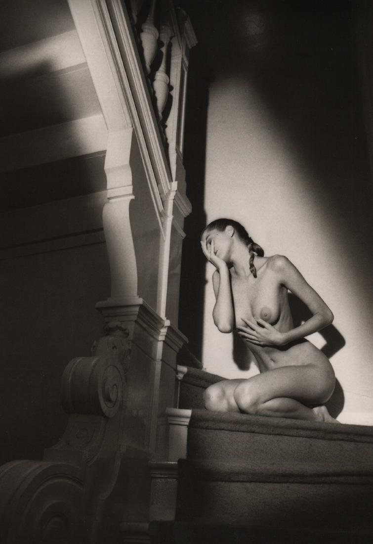JEANLOUP SIEFF - Nude on the Stairs, Paris 1987