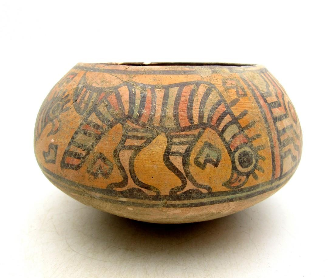 Ancient Indus Valley Terracotta Bowl with Lion & Birds