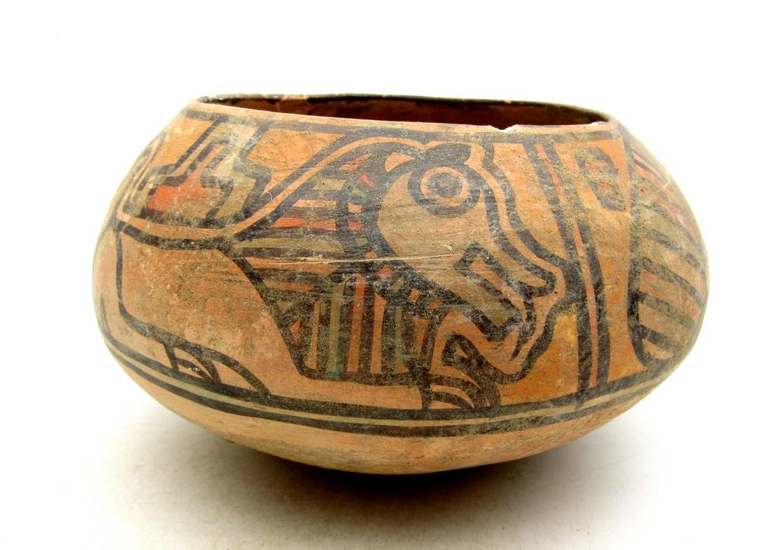 Ancient Indus Valley Terracotta Bowl with Lion & Birds - 2