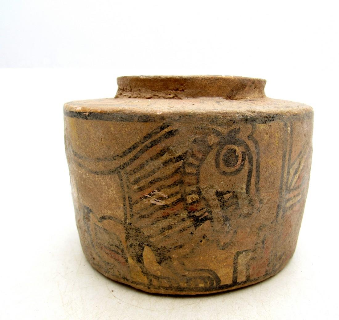 Ancient Indus Valley Terracotta Jar with Lion & Bull