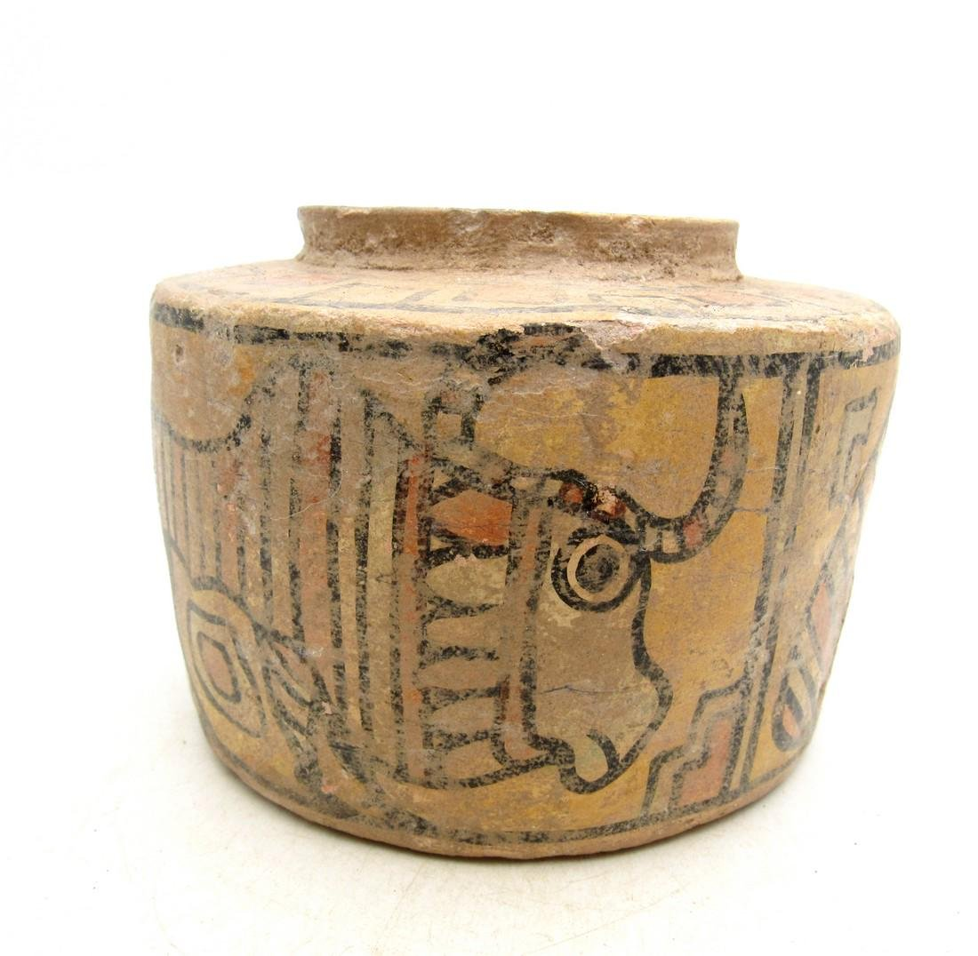 Ancient Indus Valley Terracotta Jar with Lion & Bull - 2