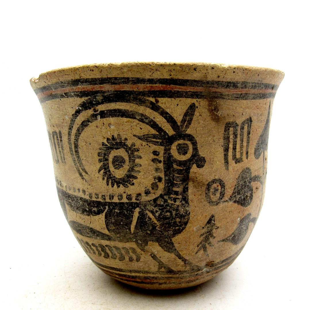 Ancient Indus Valley Terracotta Bowl with Goat