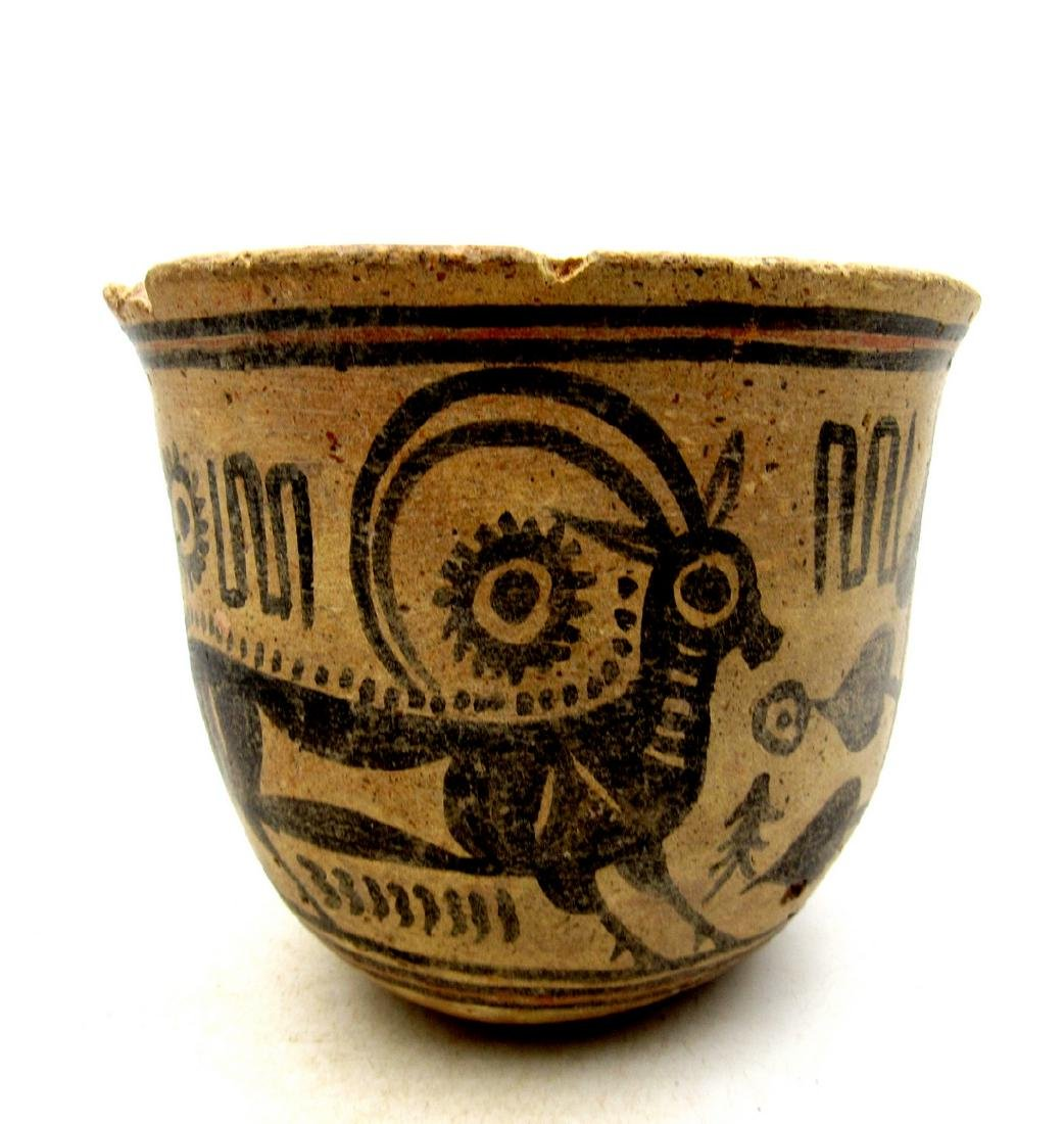 Ancient Indus Valley Terracotta Bowl with Goat - 2