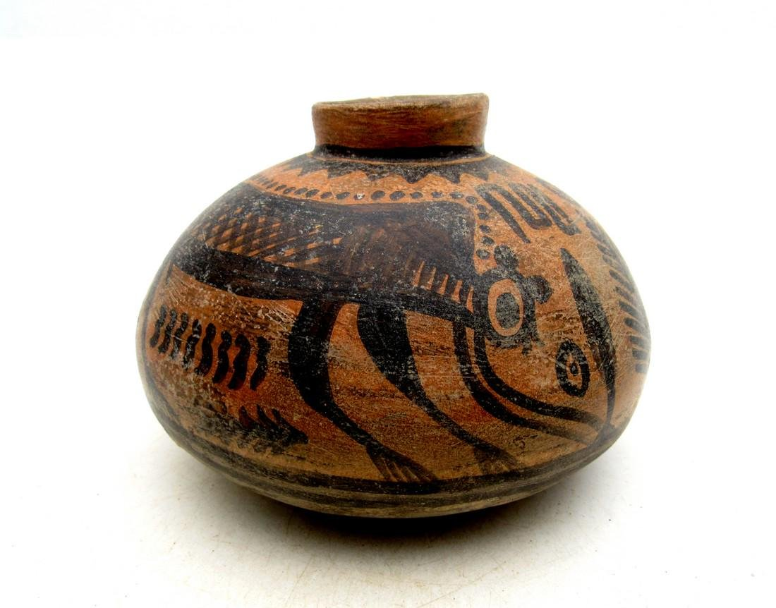 Ancient Indus Valley Terracotta Jar with Monkey