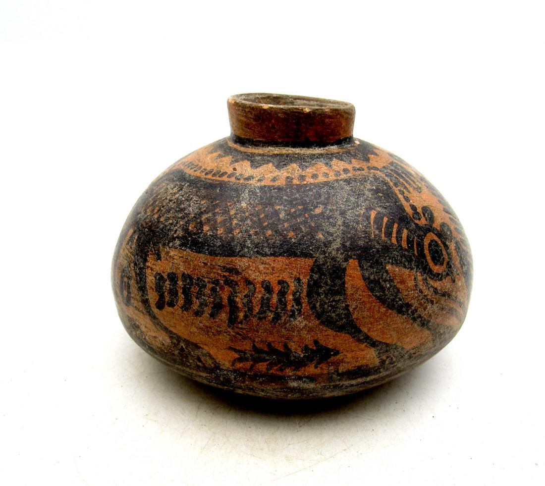 Ancient Indus Valley Terracotta Jar with Monkey - 2