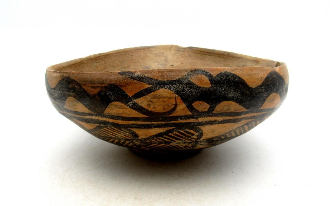 Ancient Indus Valley Terracotta Bowl with Snake