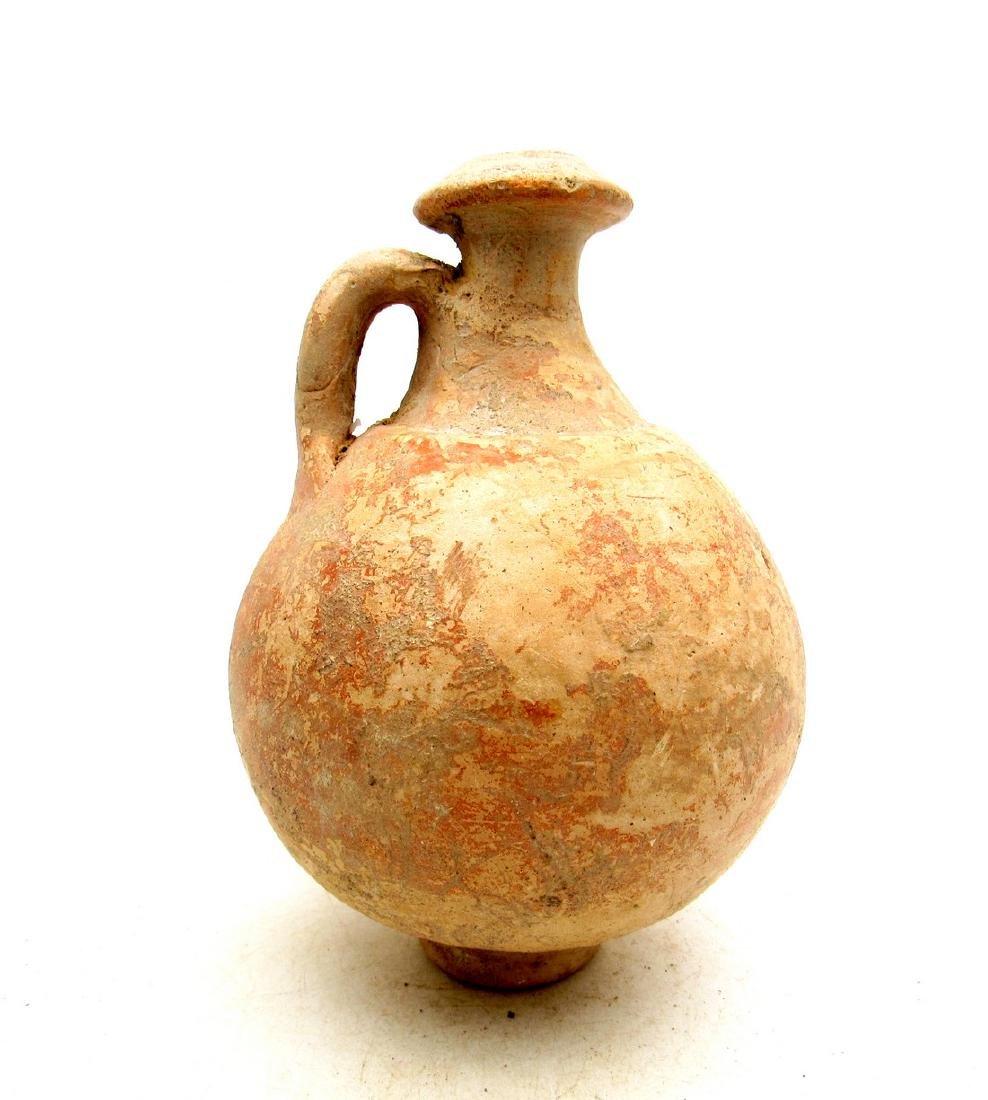 Ancient Roman Terracotta Legionary Flagon - 2