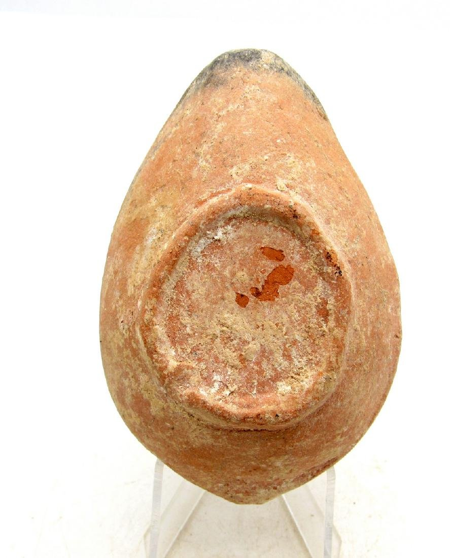 Ancient Byzantine Terracotta Oil Lamp with Laurel - 2