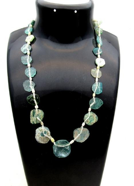 Ancient Glass Fragment Beaded Necklace