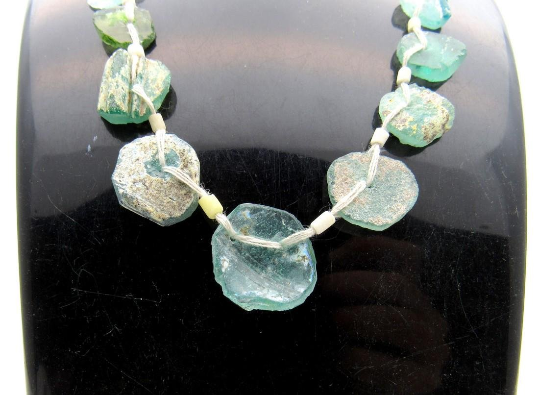 Ancient Glass Fragment Beaded Necklace - 4