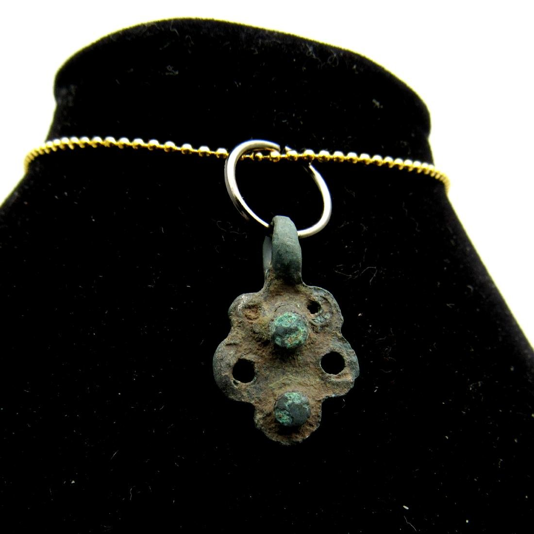 Medieval Viking Era Bronze Butterfly Pendant - 2