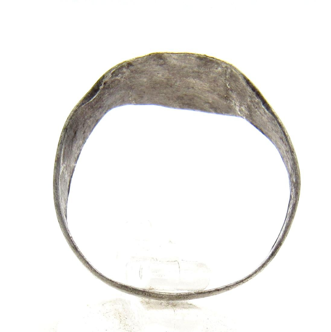 Medieval Viking Era Silver Ring with Runic Symbols - 3