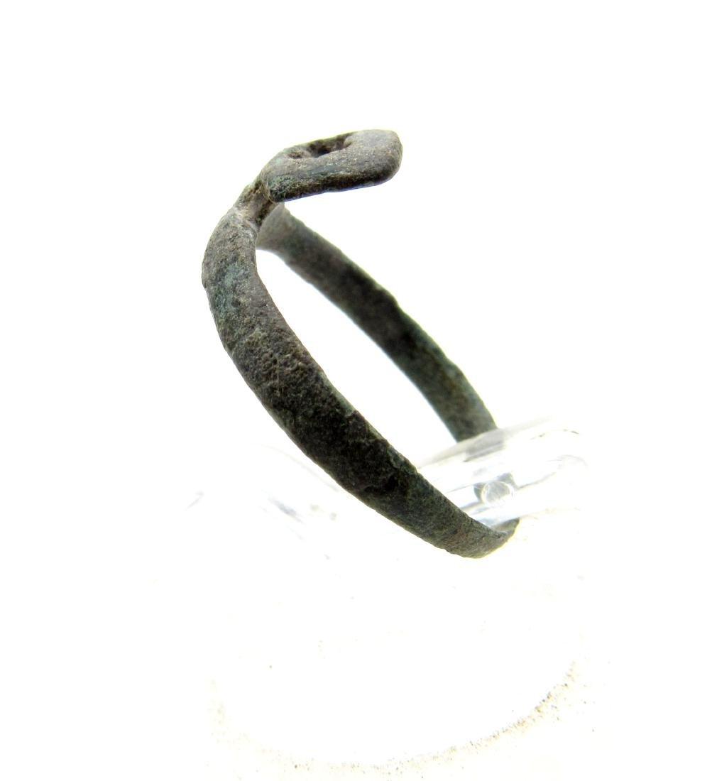 Ancient Roman Bronze Key Ring - 2