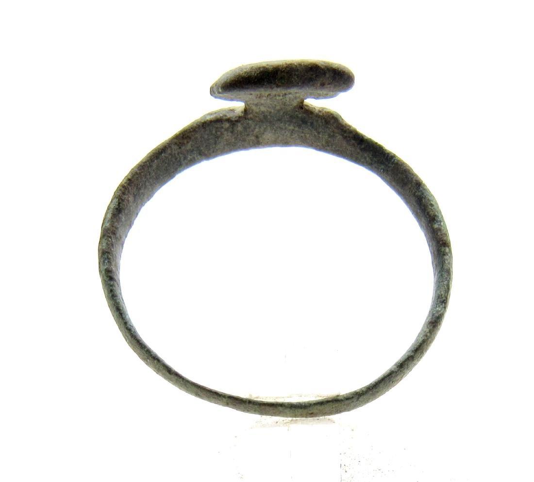 Ancient Roman Bronze Key Ring - 3