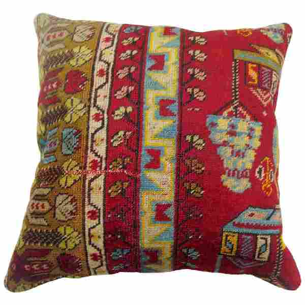 Colorful Turkish Rug Pillow