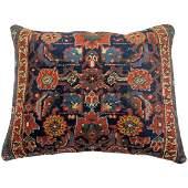Large Navy Blue Persian Rug Pillow