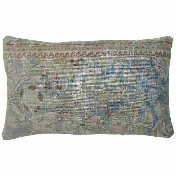 Light Blue Persian Large Rug Pillow