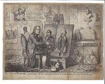 1798 James Gillray Engraving Two Pair of Portraits