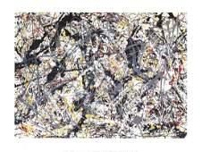 Jackson Pollock - Silver Over Black, White, Yellow &