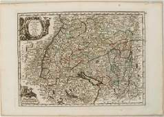 1748 Le Rouge Map of Southern Germany and Northern