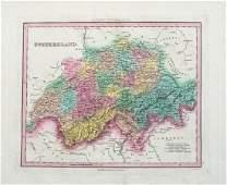 1841 Tanner Map of Switzerland -- Switzerland
