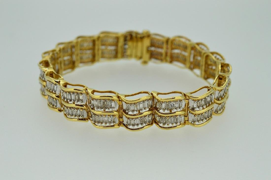 Ladies 1950's 14k Gold & Diamond Bracelet