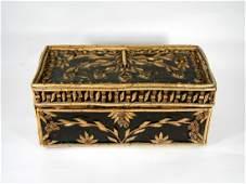 Black Forest Folk Art Twig Applique Box