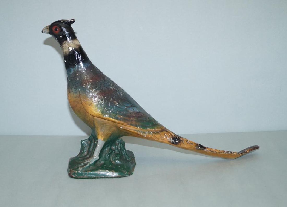 Antique Pheasant Cast Iron Doorstop - 3