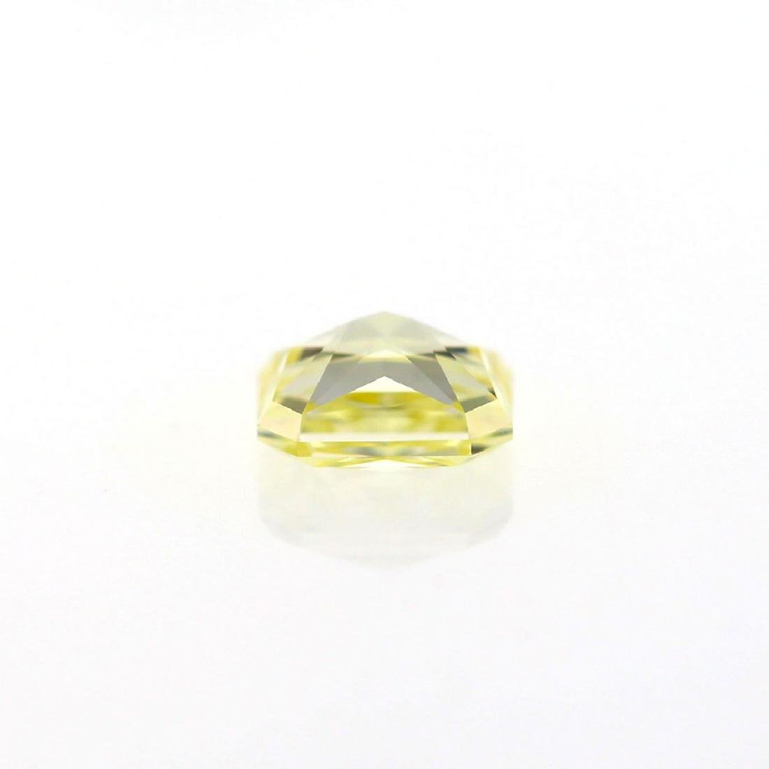 Natural Fancy Light Yellow 1.02 ct Cushion VVS1 - 2