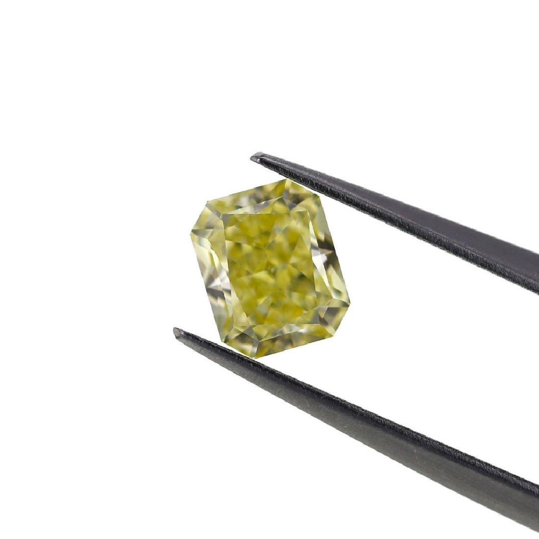 Natural Fancy Light Yellow 1.02 ct Cushion VVS1 - 5