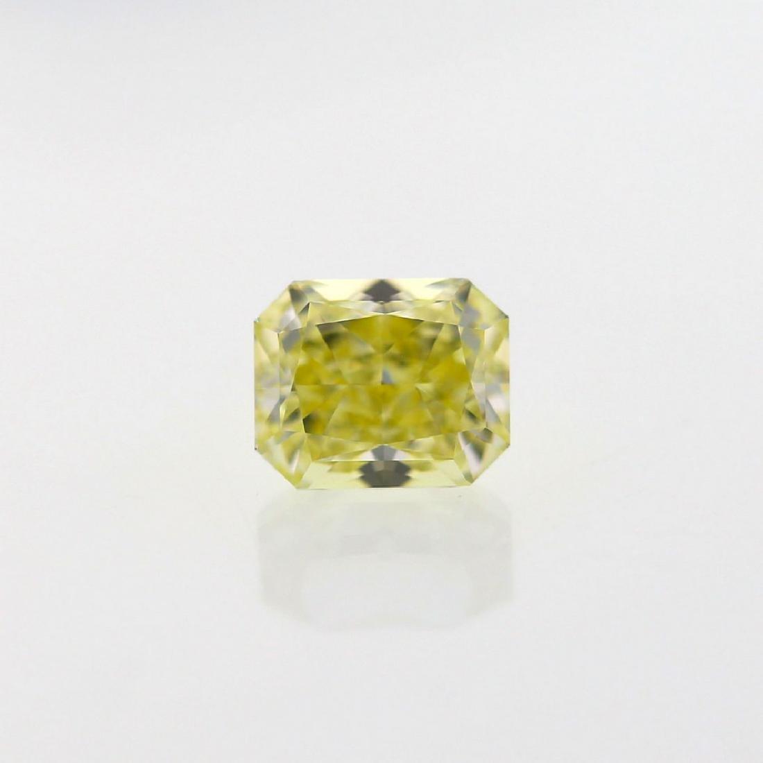 Natural Fancy Light Yellow 1.02 ct Cushion VVS1 - 7
