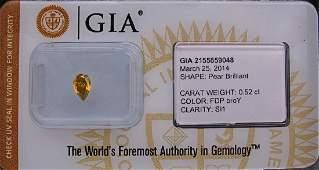Pear Natural Diamond 0.52 cts
