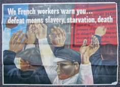 1942 US WWII Propaganda Ben Shahn Vintage Poster