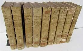 LOT OF 9 1720s ANTIQUE VELLUM BOUND LARGE FOLIOS 10 25