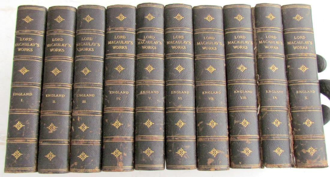 10 VOLUMES HISTORY OF ENGLAND DECORATIVE BINDING 1898
