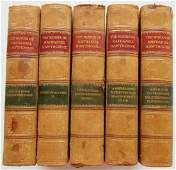1913 5 VOLUMES WORKS OF NATHANIEL HAWTHORNE DECORATIVE