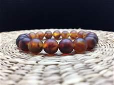 Natural Baltic Amber bracelet rare cognac colour