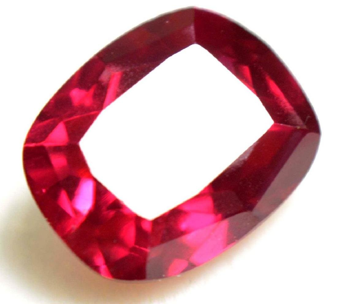 4.85 Ct Natural Blood Red Ruby AGSL Certified Cushion