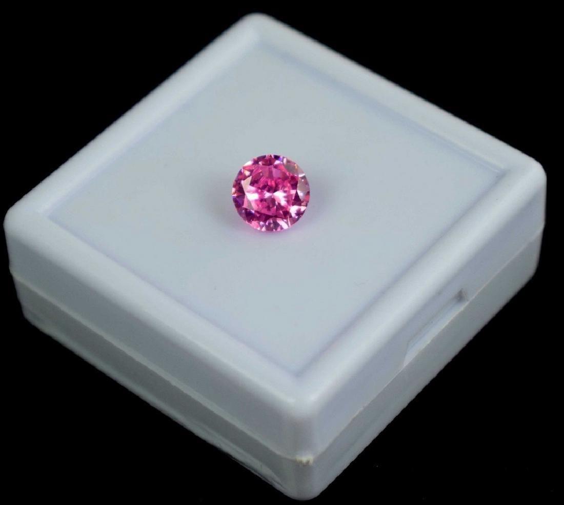 Natural 3.95 Ct IGL Certified Round Cut Pink Zircon