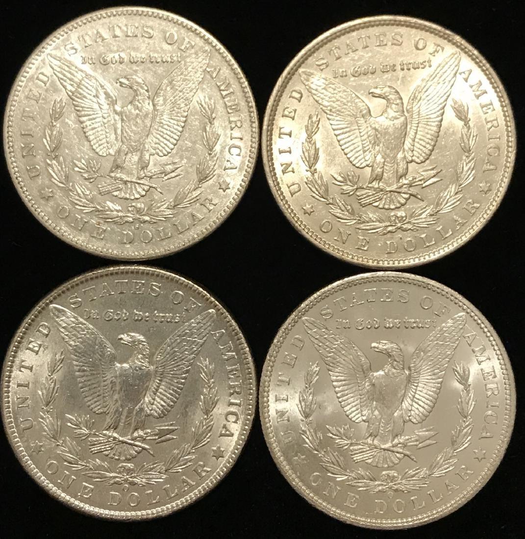 4 Morgan Silver Dollars - 2