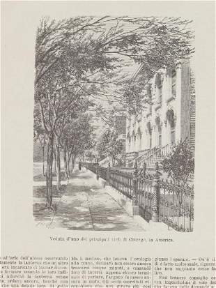 Animated view of one Street in Chicago Illinois 1880