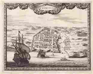 Allard Scarce 1700 Santo Domingo City View