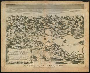 An exact draught of the Bay Harbour of Vigo 1702