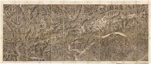 1850 Maieriches Relief der Schweizer und angranzenden
