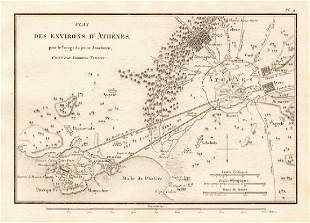 ATHENS Plan des Environs dAthnes Ancient Greece