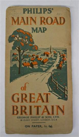 Main Road Map of Great Britain
