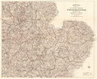Casters Map 70 Miles Around Peterborough