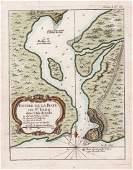 Bellin: Chart of Santiago de Cuba Harbor