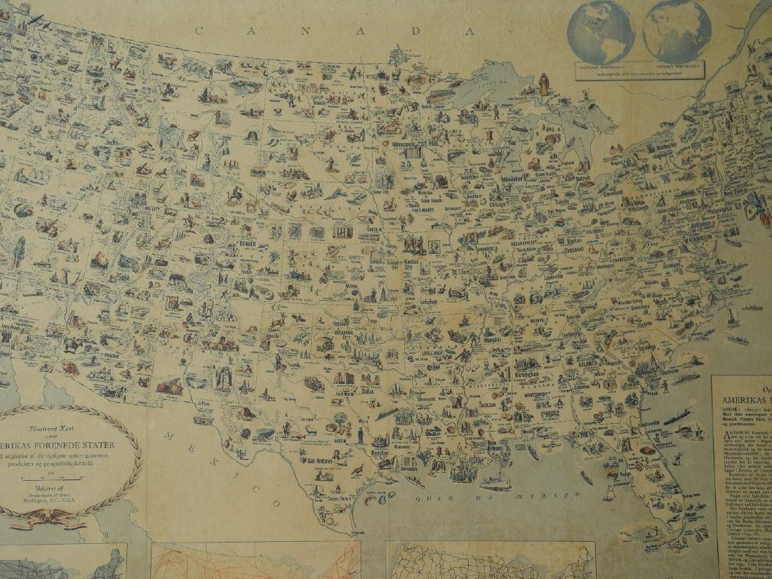 Illustreret Kort Over Amerikas Forenede Stater - 10